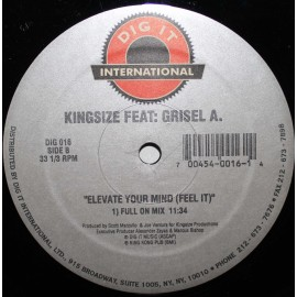 "Kingsize ‎– Elevate Your Mind (Feel It)  (12"" / Vinyl)"