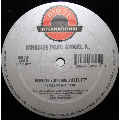 Kingsize ‎– Elevate Your Mind (Feel It)