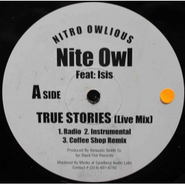"Nite Owl ‎– True Stories / Thief's Theme  (12"" / Vinyl)"