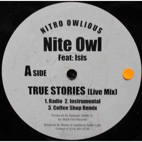 "Nite Owl – True Stories / Thief's Theme  (12"" / Vinyl)"