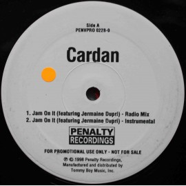 "Cardan Feat. Jermaine Dupri ‎– Jam On It (12"" / Vinyl)"