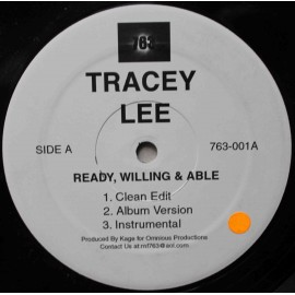 "Tracey Lee ‎– Ready, Willing And Able / Get On It (12"" / Vinyl)"