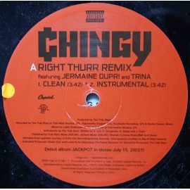 "Chingy ‎– Right Thurr (Remix) (12"" / Vinyl)"