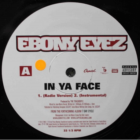 "Ebony Eyez ‎– In Ya Face (12"" / Vinyl)"