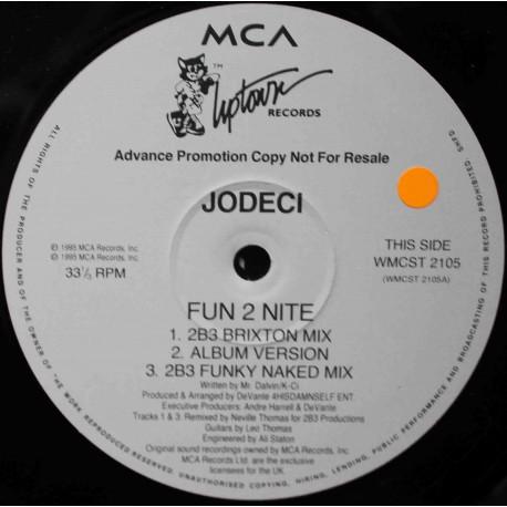 """Jodeci – Fun 2 Nite / Love U 4 Life / Freek'N You (12"""" / Vinyl)"""