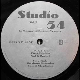 """Studio 54 – Vol. 2 (In Memory Of Gianni Versace) (12"""" / Vinyl)"""