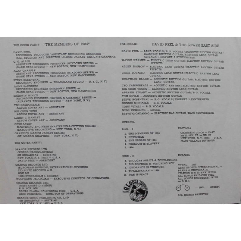 Vinyl Empire David Peel Amp The Lower East Side 1984