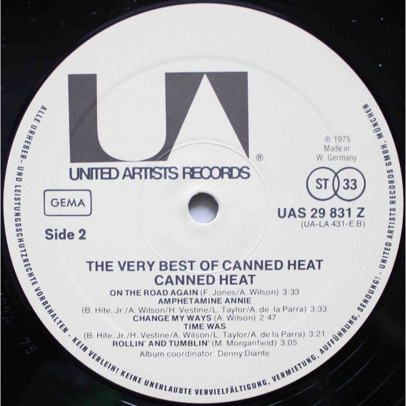Vinyl Empire Canned Heat The Very Best Of Canned Heat