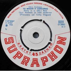 "Chris Andrews – Yesterday Man / To Whom It Concerns (7"" / Vinyl)"