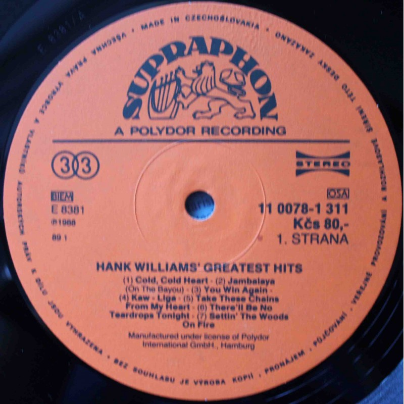 Vinyl Empire Hank Williams Hank Williams Greatest