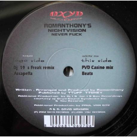 "Romanthony's Nightvision – Never Fuck (12"" / Vinyl)"
