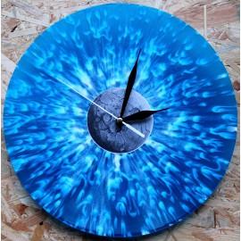 Vinylové Hodiny - Blue Metal