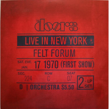 The Doors ‎– Live In New York (2LP / Vinyl)
