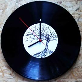Vinylové hodiny - Strom
