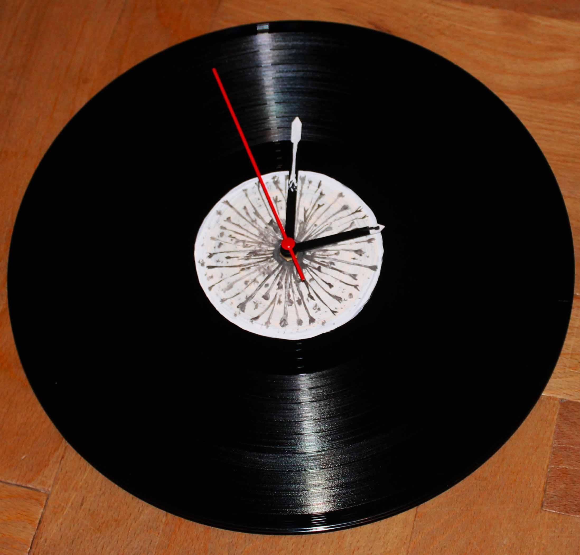 Vinylové hodiny - Pampeliška