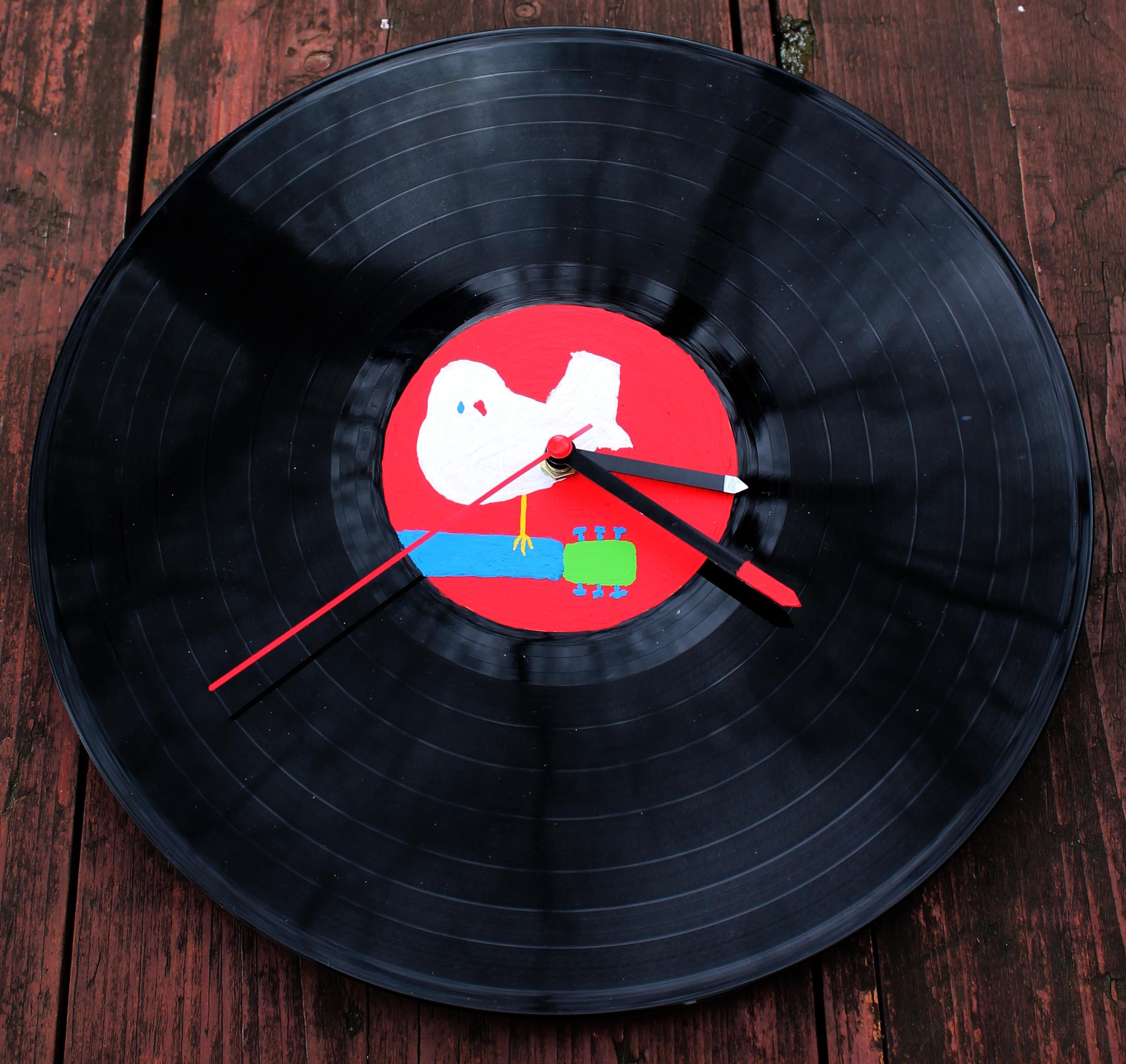 Vinylové hodiny - Woodstock