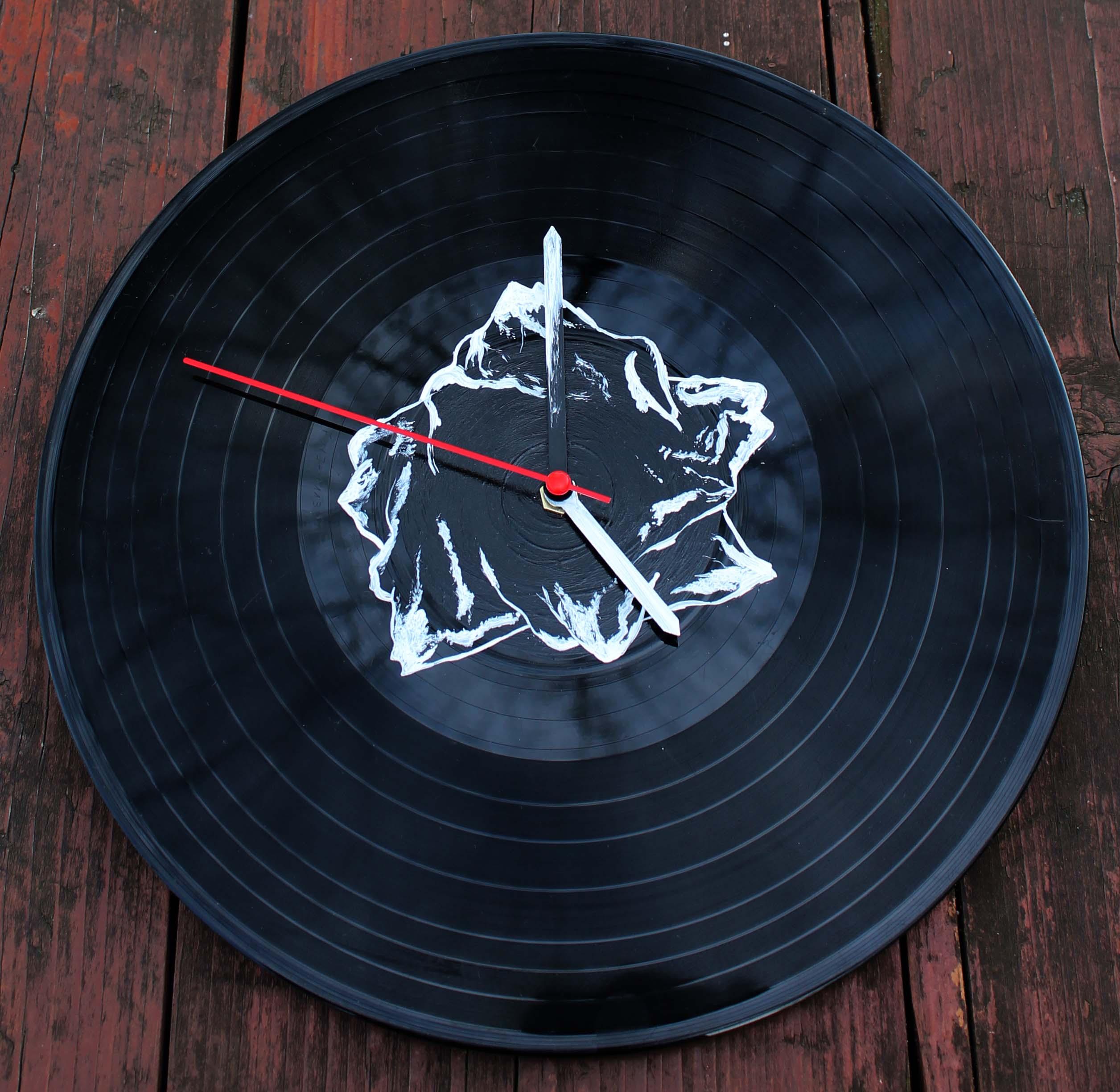 vinylové hodiny - Hory