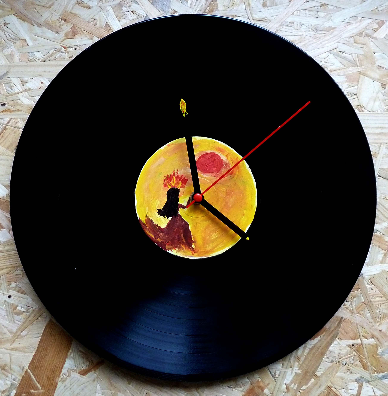 Vinylové hodiny - Slunečnice