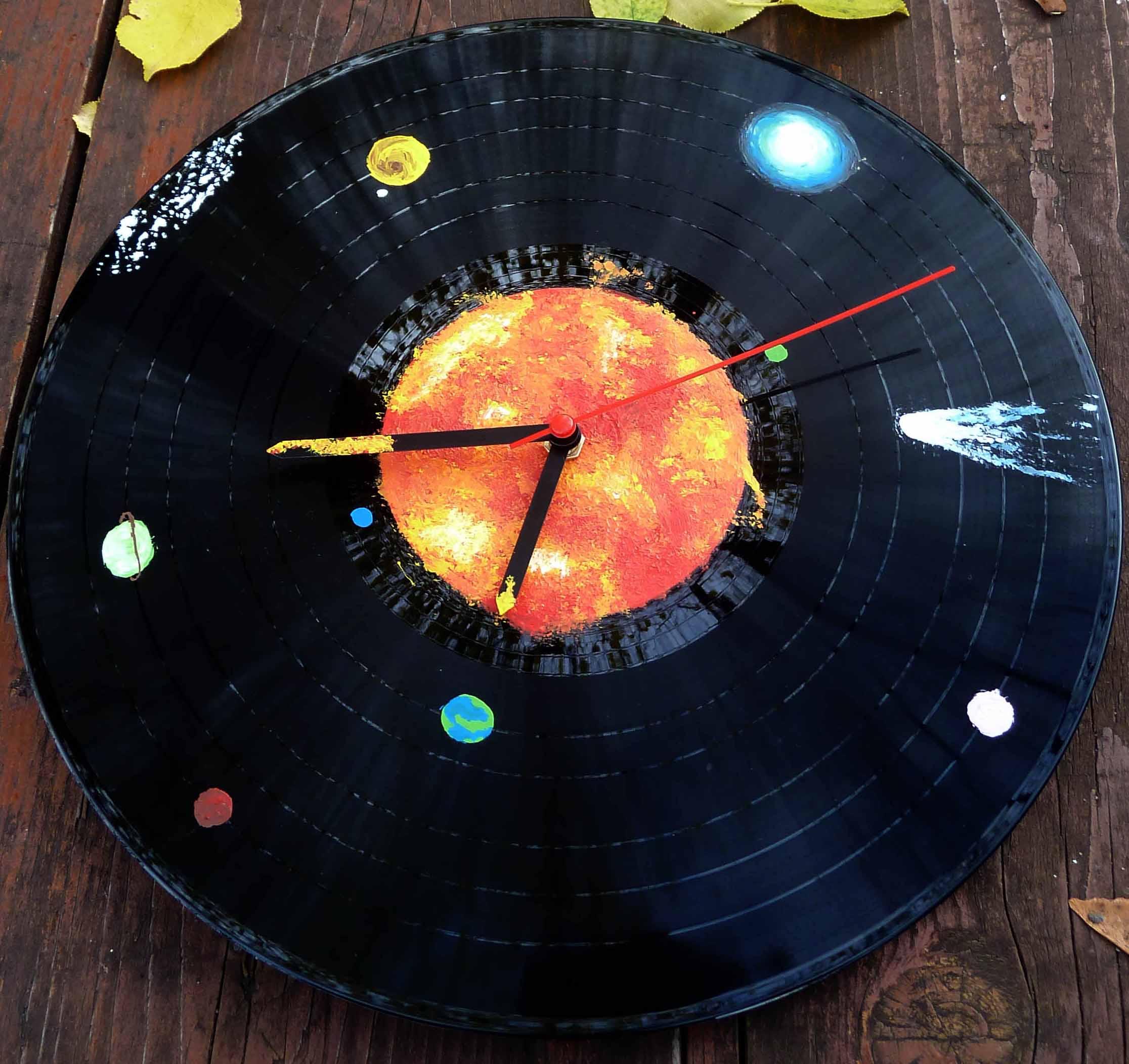 Vinylové hodiny - Galaxie 42
